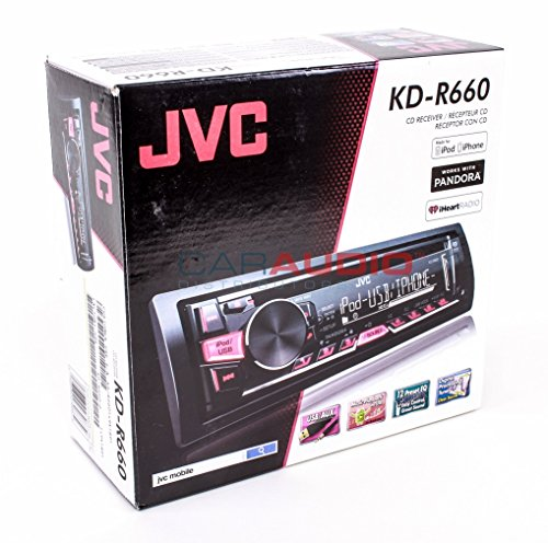 JVC KDR660 Single Din Car Stereo with AMFMCDMP3iPodUSB