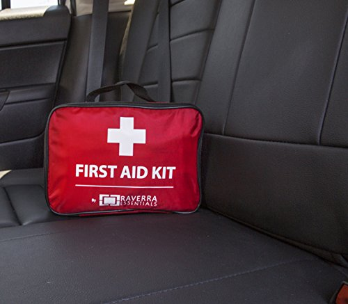 Car First Aid Kit >> First Aid Premium Kit For Car Home By Raverra 268 Pcs Including Emergency Hammer Cpr Mask Blanket Metal Scissors Ice Compress